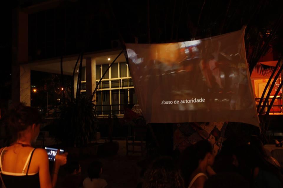 Projeção do Hino à Rua no Manifesta (Brasília, 09/09/2013)