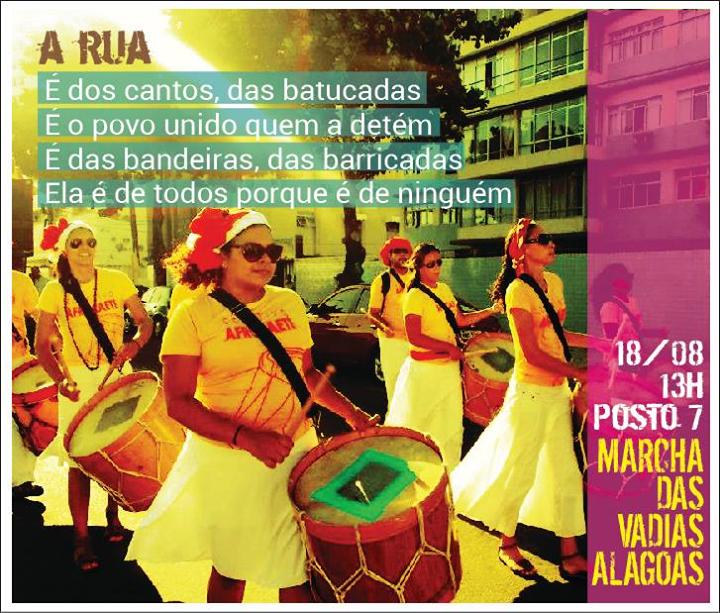 Referência ao Hino à Rua na Marcha das Vadias de Alagoas