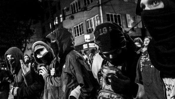 Black Bloc em manifestação no Rio de Janeiro